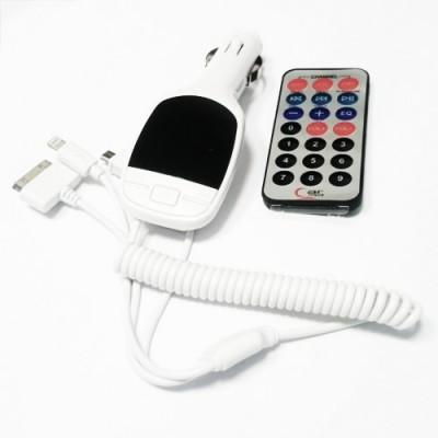 Transmitter do auta SD / USB / MicroUSB / Iphone
