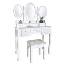 Toaletný kozmetický stolík Clasic Style - 3 zrkadlá