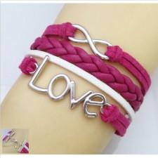 Trendy náramok Love purple