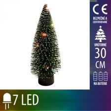 Umelý Vianočný stromček LED na batérie - 7LED - 30CM Multicolour