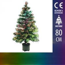 Umelý Vianočný stromček LED s optickým vláknom - 80CM Multicolour