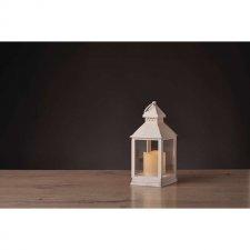Svetelná dekorácia LAMPÁŠ biely s časovačom 24 cm 1LED IP20 3xAAA  vinttage