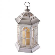 Svetelná dekorácia LAMPÁŠ biely s časovačom  37,5 cm 1LED IP20 3xAAA vinttage