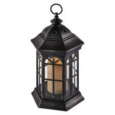 Svetelná dekorácia LAMPÁŠ čierny s časovačom  37,5 cm 1LED IP20 3xAAA vinttage