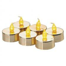 Čajové sviečky sada 6x1LED IP20 1x CR2032 vintage zlaté