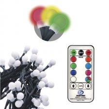Vianočná reťaz CHERRY multifunkčná s časovačom 10 m 96 LED IP44 RGB diaľkové ovládanie
