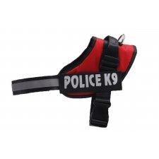 Postroje na psa L : 65-80cm - Police K9 - červený