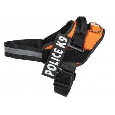 Postroje na psa L : 65-80cm - Police K9 - oranžový