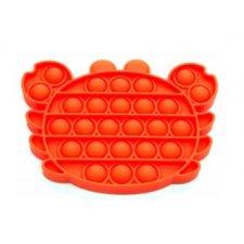Antistresová hračka Push Bubble Pop Fidget červený krab