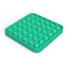 Antistresová hračka Push Bubble Pop Fidget zelený štvorec