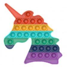 Antistresová hračka Push Bubble Pop Fidget dúhový jednorožec
