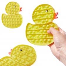 Antistresová hračka Push Bubble Pop it - žltá kačka
