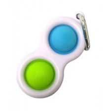 Antistresová hračka Bubble Pop it - prívesok zeleno-modrý