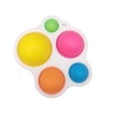 Antistresová hračka Push Bubble Pop it - farebné bubliny