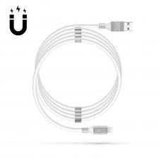 """Magnetický dátový kábel - """"Lightning"""" - 2A - biely"""