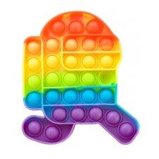 Antistresová hračka Bubble Pop it - dúhový Among Us