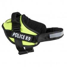Postroje na psa L : 65-80cm - Police K9 - neónovo zelený