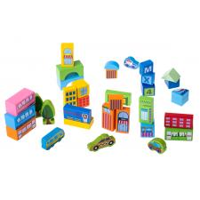 Drevené kocky: Mesto  – 100 ks