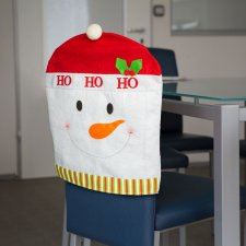 Ozdoba na stoličku - Snehuliak