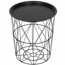 SPRINGOS drôtený konferenčný stolík - 30cm - kov - čierna