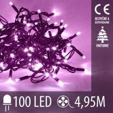 Vianočná LED svetelná reťaz vnútorná - 100LED - 4,95M Fialová