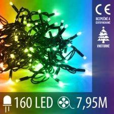 Vianočná LED svetelná reťaz vnútorná - 160LED - 7,95M Multicolour