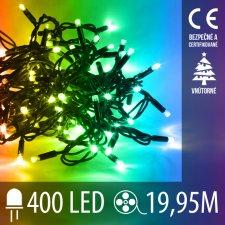 Vianočná LED svetelná reťaz vnútorná - 400LED - 19,95M Multicolour