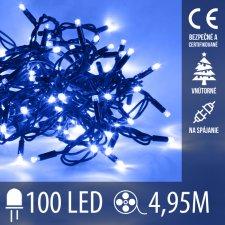 Vianočná LED svetelná reťaz vnútorná na spájanie - 100LED - 4,95M Modrá