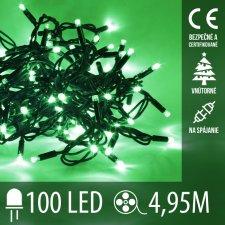 Vianočná LED svetelná reťaz vnútorná na spájanie - 100LED - 4,95M Zelená