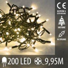 Vianočná LED svetelná reťaz vnútorná na spájanie - 200LED - 9,95M Teplá biela