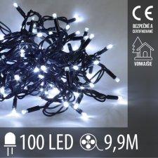 Vianočná LED svetelná reťaz vonkajšia - 100LED - 9,9M Studená Biela