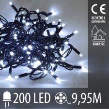Vianočná LED svetelná reťaz vonkajšia - 200LED - 9,95M Studená Biela