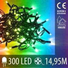 Vianočná LED svetelná reťaz vonkajšia - 300LED - 14,95M Multicolour