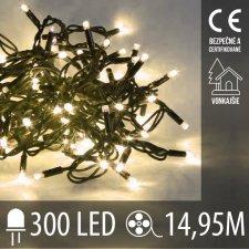 Vianočná LED svetelná reťaz vonkajšia - 300LED - 14,95M Teplá Biela