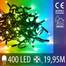 Vianočná LED svetelná reťaz vonkajšia - 400LED - 19,95M Multicolour
