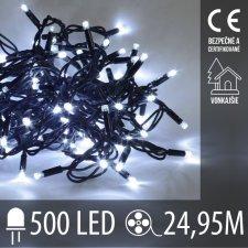 Vianočná LED svetelná reťaz vonkajšia - 500LED - 24,95M Studená Biela