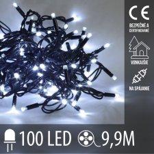 Vianočná LED svetelná reťaz vonkajšia na spájanie - 100LED - 9,9M Studená biela
