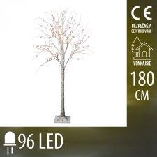 Vianočná LED svetelná ozdoba - dula - 96LED - 1,8M - Teplá biela