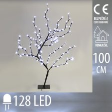 Vianočná LED svetelná ozdoba - kvitnúca čerešňa - 128LED - 1M - Studená biela