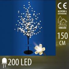 Vianočná LED svetelná ozdoba - kvitnúca čerešňa - 200LED - 1,5M - Teplá biela