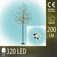 Vianočná LED svetelná ozdoba - kvitnúca čerešňa - 320LED - 2M - Teplá biela