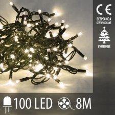 Vianočná LED svetelná reťaz vnútorná - 100LED - 8M Teplá biela