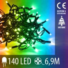 Vianočná LED svetelná reťaz vnútorná - 140LED - 6,90M Multicolour