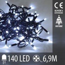 Vianočná LED svetelná reťaz vnútorná - 140LED - 6,90M Studená biela