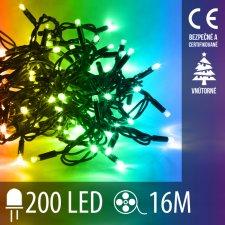 Vianočná LED svetelná reťaz vnútorná - 200LED - 16M Multicolour