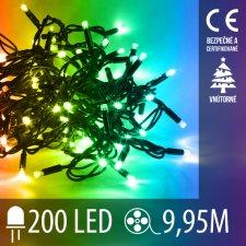 Vianočná LED svetelná reťaz vnútorná - 200LED - 9,95M Multicolour