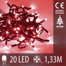 LED Vianočné osvetlenie - 20LED - 1,33M Červená
