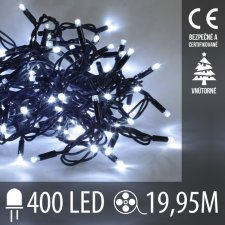 LED Vianočné osvetlenie - 400LED - 19,95M Studená Biela