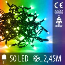 LED Vianočné osvetlenie - 50LED - 2,45M Multicolour