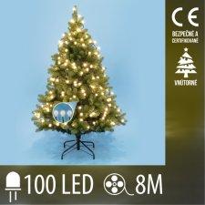 Vianočná LED svetelná reťaz vnútorná - guľky 1,5 cm - 100LED - 8M Teplá biela